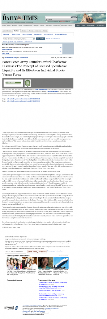 Forex Peace Army - Farmington Daily Times (Farmington, NM)- Stock Liquidity Discussion