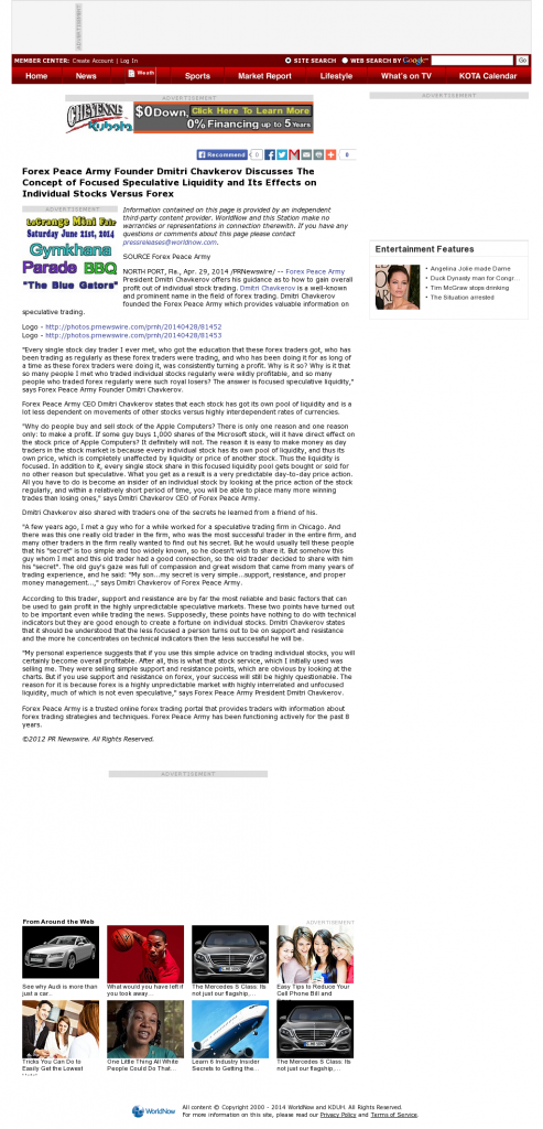 Forex Peace Army - KDUH-TV ABC-3 (Scottsbluff, NE)- Stock Liquidity Discussion