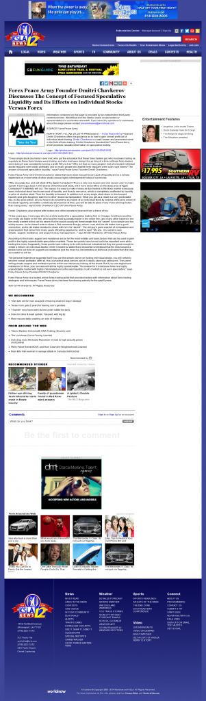 Forex Peace Army - KSLA CBS-12 (Shreveport, LA)- Stock Liquidity Discussion