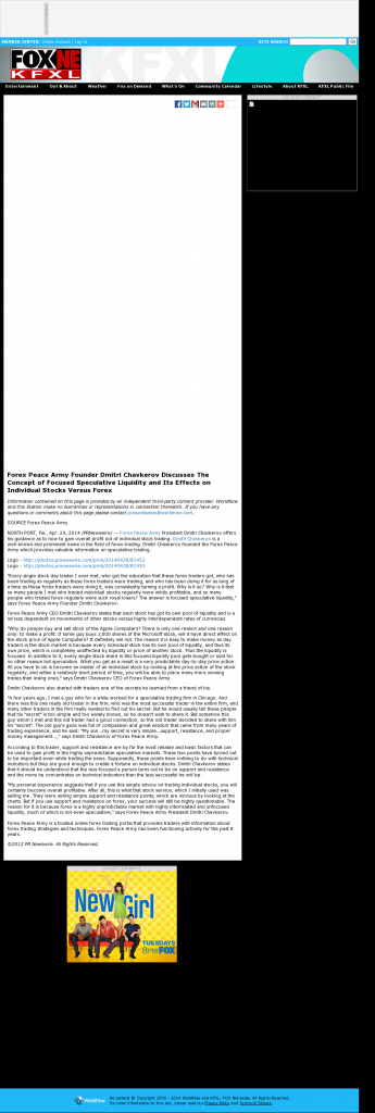 Forex Peace Army - KTVG-TV FOX-17 / KSNB-TV FOX-4 (Kearney, NE)- Stock Liquidity Discussion