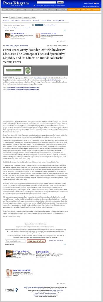 Forex Peace Army - Long Beach Press-Telegram (Long Beach, CA)- Stock Liquidity Discussion