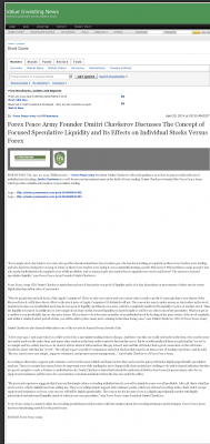 Forex Peace Army -  Value Investing News - Stock Liquidity Discussion