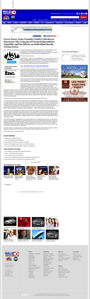 Forex Peace Army - WALB NBC-10 (Albany, GA)- Stock Liquidity Discussion