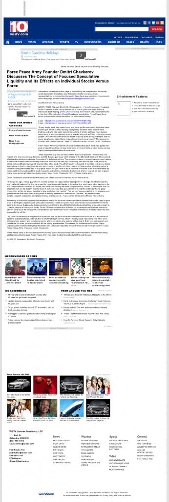 Forex Peace Army - WISTV NBC-10 (Columbia, SC)- Stock Liquidity Discussion