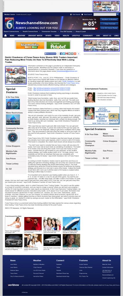 Dmitri Chavkerov - KAUZ-TV CBS-6 (Wichita Falls, TX)- Effectively Dealing With Losing Trades Discussion