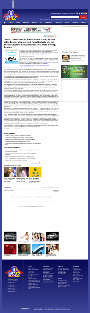 Dmitri Chavkerov - KSLA CBS-12 (Shreveport, LA)- Effectively Dealing With Losing Trades Discussion
