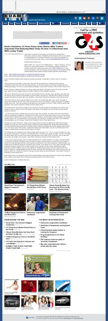 Dmitri Chavkerov - KUAM-TV NBC-8 / CBS-11 (Hagatna, Guam)- Effectively Dealing With Losing Trades Discussion