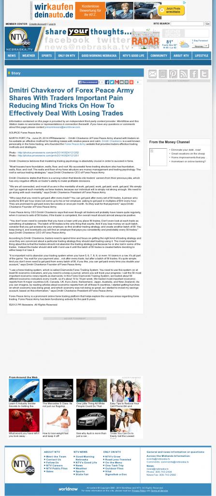 Dmitri Chavkerov - NebraskaTV (Kearney, NE)- Effectively Dealing With Losing Trades Discussion