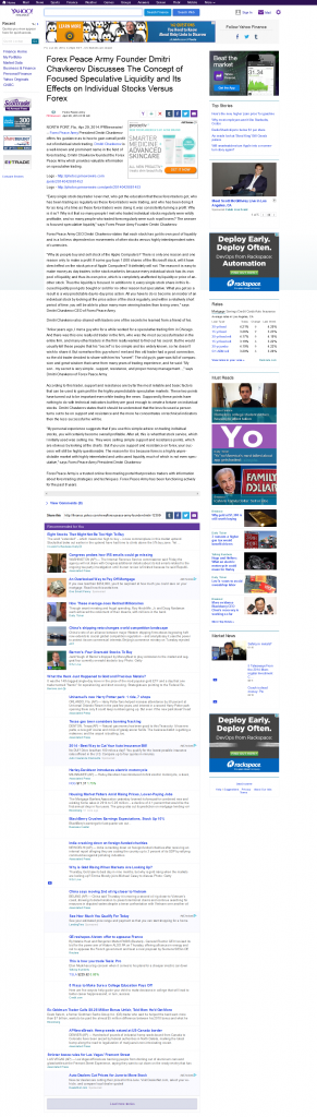 Forex Peace Army CEO | Stock Liquidity Story in Yahoo Finance