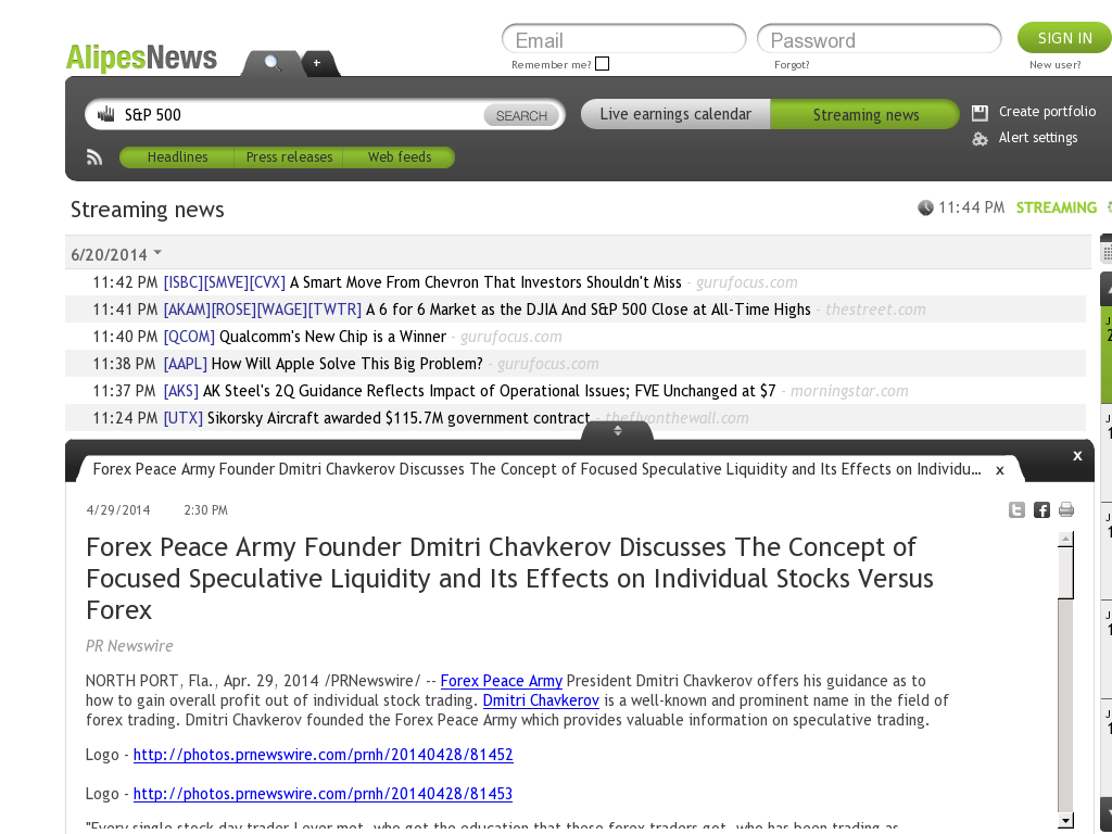 Forex Peace Army - AlipesNews- Stock Liquidity Discussion