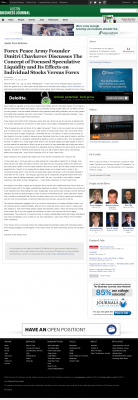 Forex Peace Army -  Austin Business Journal - Stock Liquidity Discussion