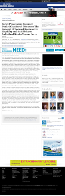 Forex Peace Army -  Baltimore Business Journal - Stock Liquidity Discussion