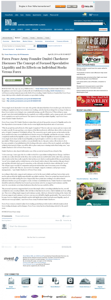 Forex Peace Army - Belleville News-Democrat- Stock Liquidity Discussion