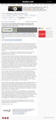 Forex Peace Army -  Boston Globe - Stock Liquidity Discussion