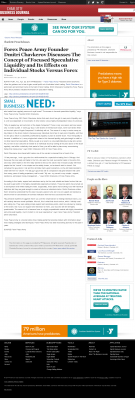 Forex Peace Army -  Charlotte Business Journal - Stock Liquidity Discussion