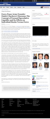 Forex Peace Army -  Chicago Business News - Stock Liquidity Discussion