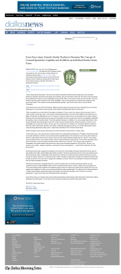 Forex Peace Army -  DallasNews.com - Stock Liquidity Discussion