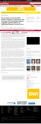 Forex Peace Army -  Dayton Business Journal - Stock Liquidity Discussion