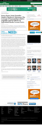 Forex Peace Army -  Denver Business Journal - Stock Liquidity Discussion