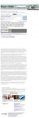 Forex Peace Army -  Farmington Daily Times (Farmington, NM) - Stock Liquidity Discussion