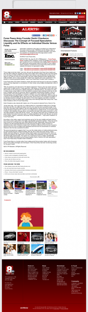 Forex Peace Army - KAIT ABC-8 (Jonesboro, AR)- Stock Liquidity Discussion