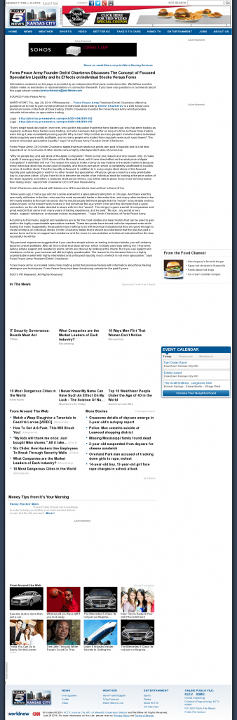 Forex Peace Army - KCTV-TV CBS-5 (Kansas City, MO)- Stock Liquidity Discussion