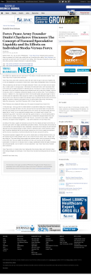 Forex Peace Army -  Nashville Business Journal - Stock Liquidity Discussion