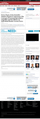 Forex Peace Army -  Sacramento Business Journal - Stock Liquidity Discussion