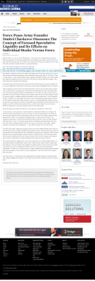 Forex Peace Army -  San Jose Business Journal - Stock Liquidity Discussion