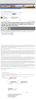 Forex Peace Army -  Santa Cruz Sentinel (Santa Cruz, CA) - Stock Liquidity Discussion