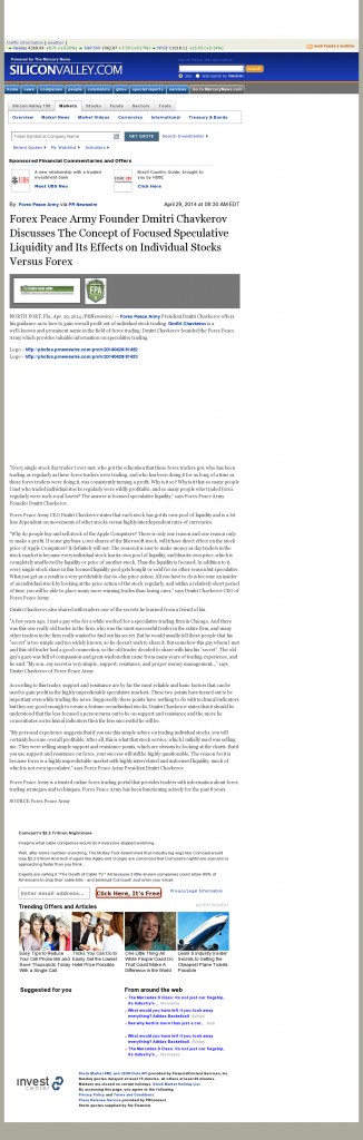 Forex Peace Army - SiliconValley.com (Silicon Valley, CA)- Stock Liquidity Discussion