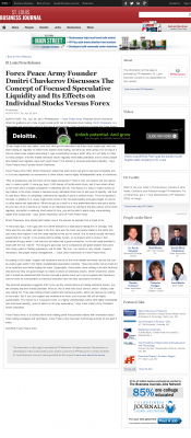 Forex Peace Army -  St. Louis Business Journal - Stock Liquidity Discussion