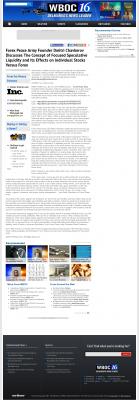 Forex Peace Army -  WBOC CBS-16 (Salisbury, MD) - Stock Liquidity Discussion