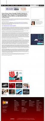 Forex Peace Army -  WFXG-TV FOX-54 (Augusta, GA) - Stock Liquidity Discussion