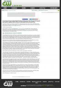 Forex Peace Army -  WLTZ-TV CW-38 (Columbus, GA) - Stock Liquidity Discussion