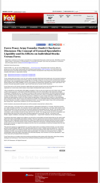 Forex Peace Army -  WSFX-TV FOX-26 (Wilmington, NC) - Stock Liquidity Discussion
