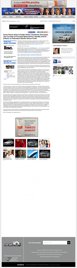 Forex Peace Army - WTEN ABC-10 (Albany, NY)- Stock Liquidity Discussion