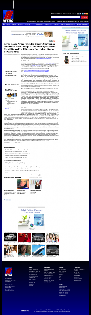 Forex Peace Army - WTOC CBS-11 (Savannah, GA)- Stock Liquidity Discussion