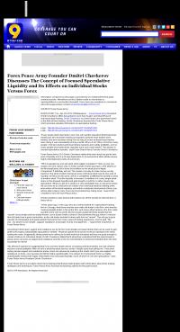 Forex Peace Army -  WTVM ABC-9 (Columbus, GA) - Stock Liquidity Discussion