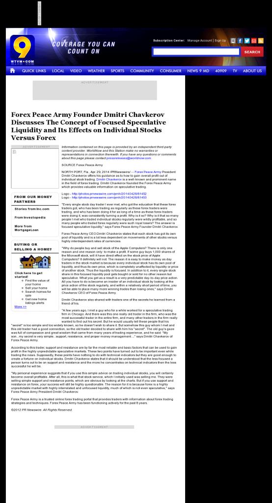 Forex Peace Army - WTVM ABC-9 (Columbus, GA)- Stock Liquidity Discussion