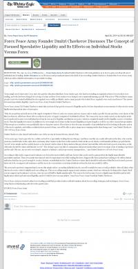 Forex Peace Army -  Wichita Eagle (Wichita, KS) - Stock Liquidity Discussion
