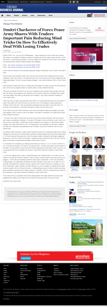 Dmitri Chavkerov - Chicago Business News- Effectively Dealing With Losing Trades Discussion
