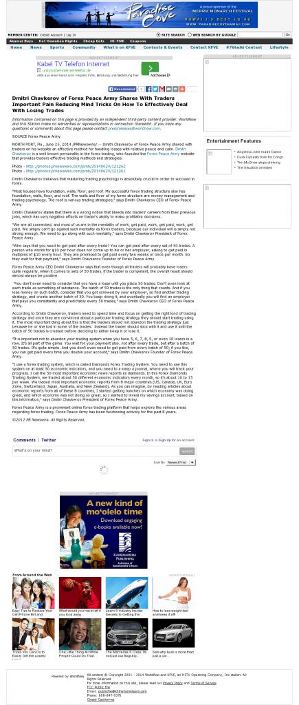 Dmitri Chavkerov - KFVE MyNetworkTV-5 (Honolulu, HI)- Effectively Dealing With Losing Trades Discussion