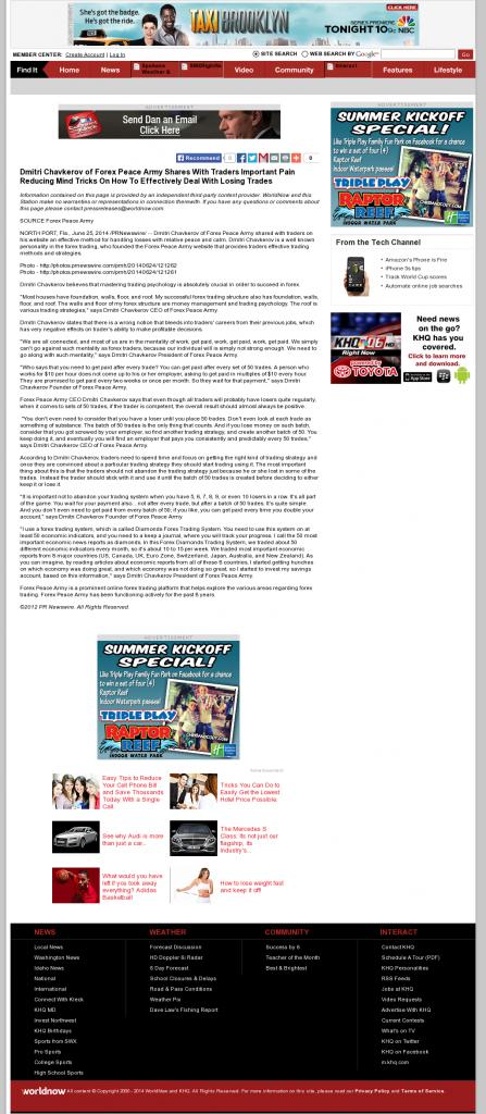 Dmitri Chavkerov - KHQ-TV NBC-6 (Spokane, WA)- Effectively Dealing With Losing Trades Discussion