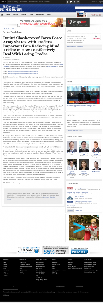 Dmitri Chavkerov - San Jose Business Journal- Effectively Dealing With Losing Trades Discussion