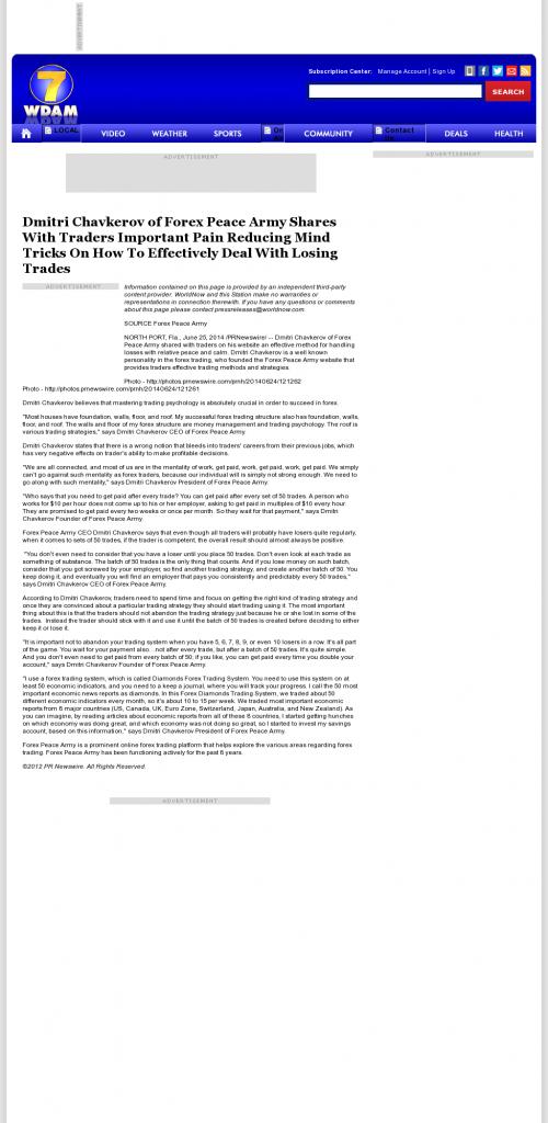 Dmitri Chavkerov - WDAM NBC-7 (Hattiesburg-Laurel, MS)- Effectively Dealing With Losing Trades Discussion
