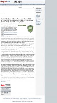 Dmitri Chavkerov -  Worcester Telegram & Gazette - Effectively Dealing With Losing Trades Discussion